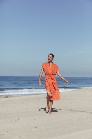 Astrid Easy Dress ADOBE FLOR MEDALLION by Trovata - 1