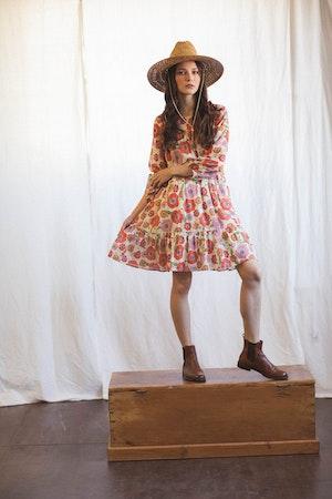 Nia Short Tiered Dress POPPY by Trovata - 1