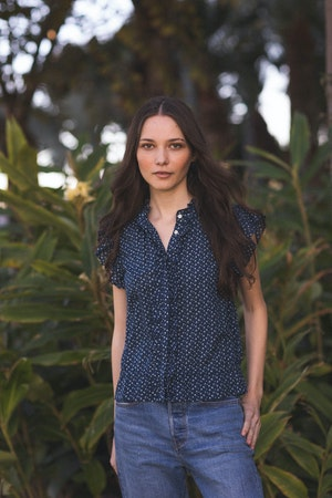 Paige Blouse SEAVIEW DITSY by Trovata - 1
