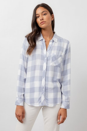 HUNTER - PERIWINKLE WHITE CHECK by Rails - 2