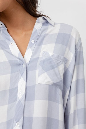 HUNTER - PERIWINKLE WHITE CHECK by Rails - 6