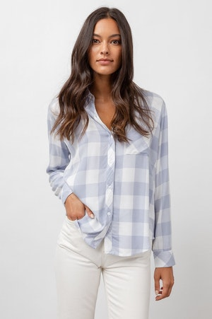 HUNTER - PERIWINKLE WHITE CHECK by Rails - 4