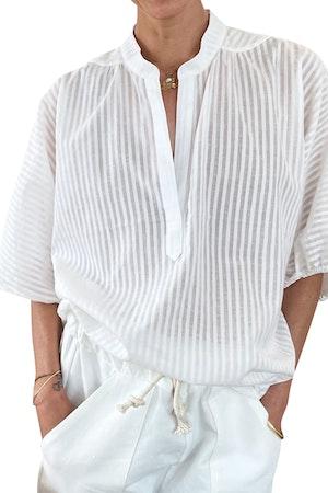 White Khadi Dolman Top-sample on sale by Two - 1