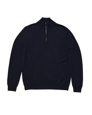 Trento Wool and Cashmere Unisex Half-Zip Pullover Sweater by Want Les Essentiels - 1