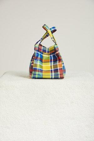 Vegan Quad Bag in Retro Plaid by Simon Miller - 1