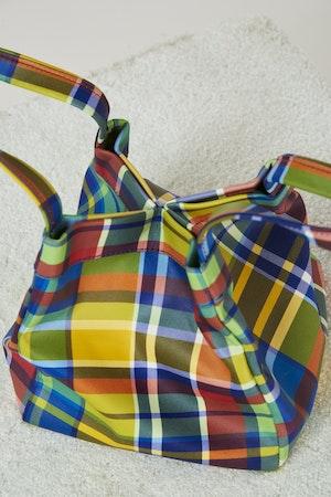 Vegan Quad Bag in Retro Plaid by Simon Miller - 2