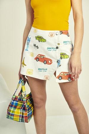 Vegan Quad Bag in Retro Plaid by Simon Miller - 4