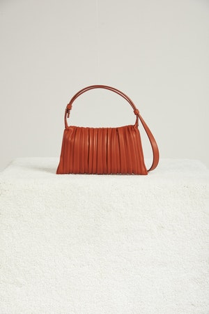 Vegan Mini Puffin in Sepia Brown Pleated by Simon Miller - 2