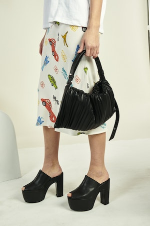 Vegan Puffin in Black Pleated by Simon Miller - 5