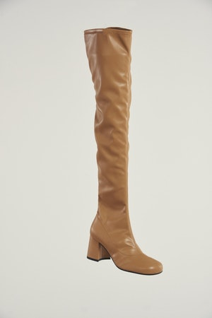Vegan Tall Mojo Boot in Toffee by Simon Miller - 1