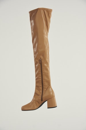 Vegan Tall Mojo Boot in Toffee by Simon Miller - 2
