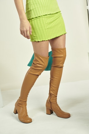 Vegan Tall Mojo Boot in Toffee by Simon Miller - 4