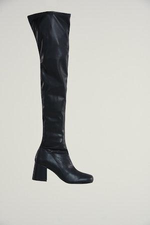 Vegan Tall Mojo Boot in Black by Simon Miller - 1