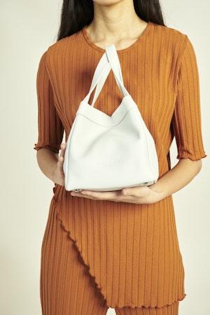 Quad Bag in White by Simon Miller - 5