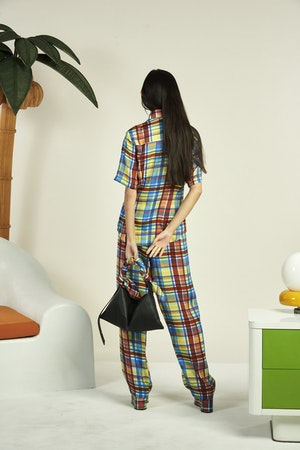 Shigedy Pant in Retro Plaid by Simon Miller - 4