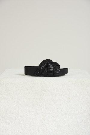 Vegan Criss-Cross Dip Slide in Black by Simon Miller - 1