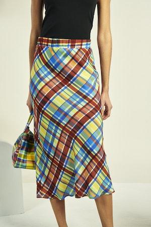 Moonie Skirt in Retro Plaid by Simon Miller - 2