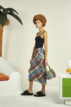 Moonie Skirt in Retro Plaid by Simon Miller - 3
