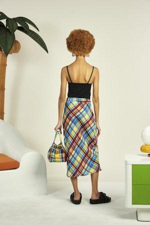 Moonie Skirt in Retro Plaid by Simon Miller - 4