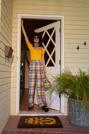 Shigedy Pant in Retro Plaid by Simon Miller - 1
