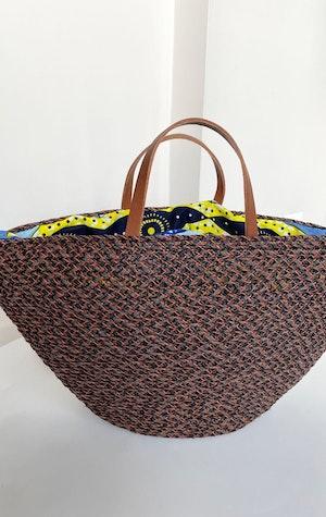 Raffia Auburn handbag by Two - 4