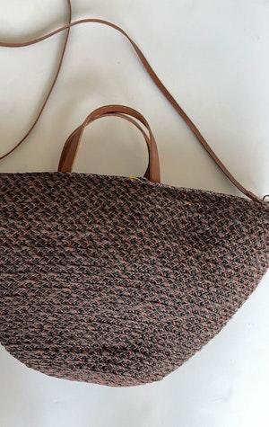 Raffia Auburn handbag by Two - 5