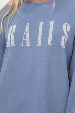 RAILS SIGNATURE SWEATSHIRT - WASHED INDIGO RAILS by Rails - 6