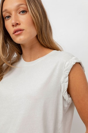 THE MUSCLE TANK - IVORY GREY ACID WASH by Rails - 6