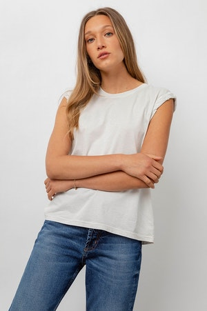THE MUSCLE TANK - IVORY GREY ACID WASH by Rails - 4