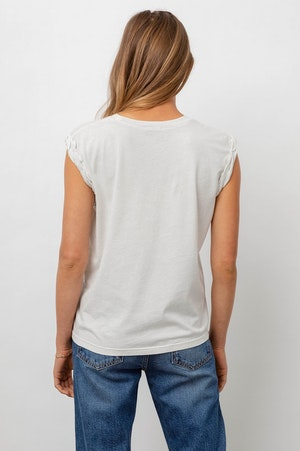 THE MUSCLE TANK - IVORY GREY ACID WASH by Rails - 5