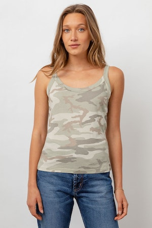 THE FITTED TANK - LAUREL CAMO by Rails - 2