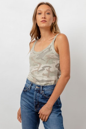 THE FITTED TANK - LAUREL CAMO by Rails - 4