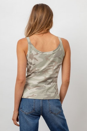 THE FITTED TANK - LAUREL CAMO by Rails - 5