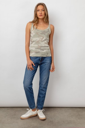 THE FITTED TANK - LAUREL CAMO by Rails - 3