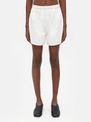 Unisex Loose Running Shorts White by Vaara - 1