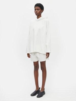 Unisex Loose Running Shorts White by Vaara - 2