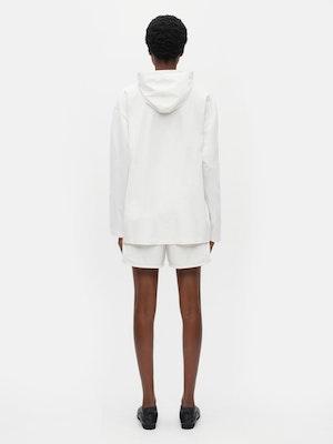 Unisex Loose Running Shorts White by Vaara - 3