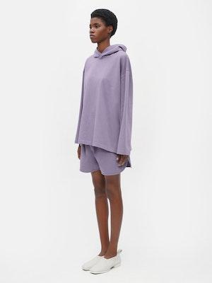 Unisex Loose Running Shorts Purple by Vaara - 2