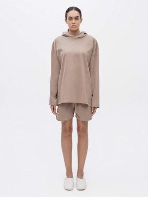 Hooded Long Sleeve Pocket T-shirt Grey by Vaara - 1