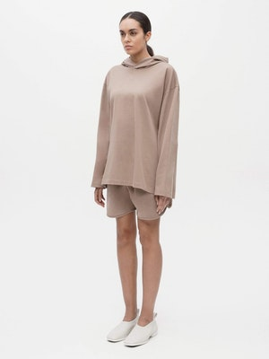 Hooded Long Sleeve Pocket T-shirt Grey by Vaara - 2