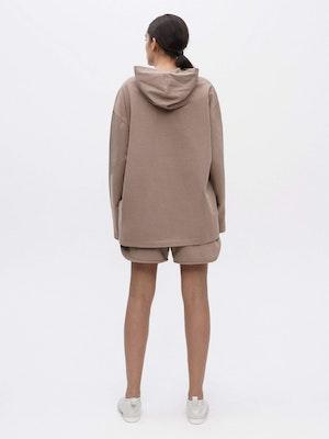Hooded Long Sleeve Pocket T-shirt Grey by Vaara - 3