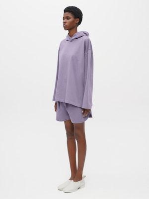 Hooded Long Sleeve Pocket T-shirt Purple by Vaara - 2