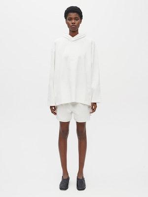 Hooded Long Sleeve Pocket T-shirt White by Vaara - 2