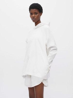 Hooded Long Sleeve Pocket T-shirt White by Vaara - 1
