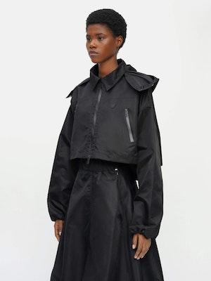 Cropped Packable Parka Black by Vaara - 3