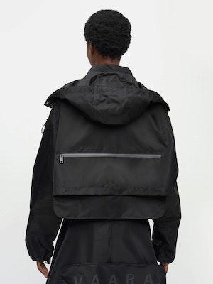Cropped Packable Parka Black by Vaara - 5